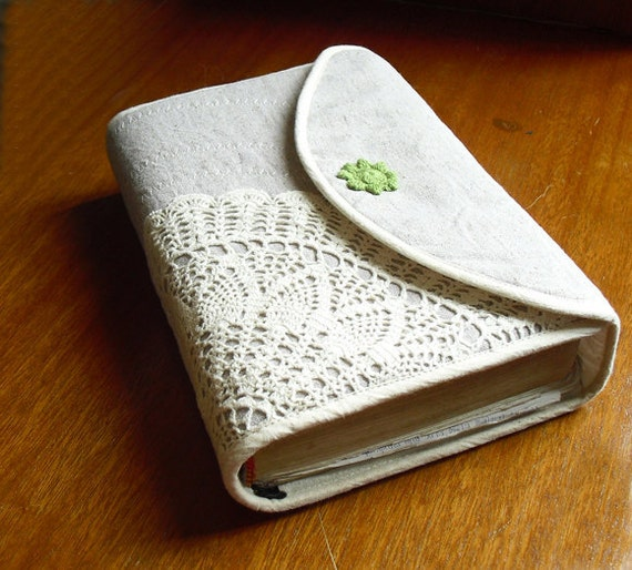 Bible Covers: Bible Cover Journal Cover Crochetlinencotton Custom Made