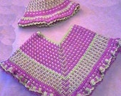 Suzy-Q Girls Poncho CROCHET PATTERN Sized for 1-3 years - INSTANT Download