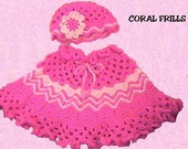 Coral Frills Girls Poncho CROCHET PATTERN - INSTANT Download