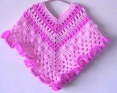 Spring Fantasy Girls Poncho CROCHET PATTERN - INSTANT Download