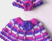 Lovely Links of Friendship Poncho and Hat Original CROCHET PATTERN - INSTANT Download