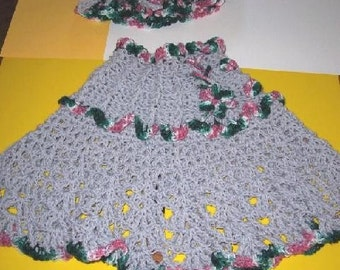Gray Cables Girls Poncho CROCHET PATTERN - INSTANT Download