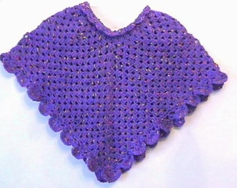 Grape Wiggles Poncho CROCHET PATTERN - Original Design  - INSTANT Download