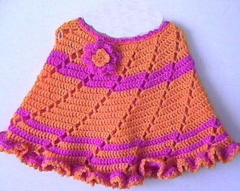 Swirly Twirly Poncho CROCHET PATTERN 3-7 years - INSTANT Download