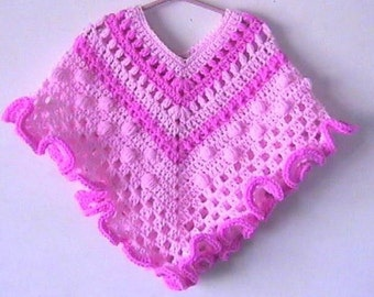 Poncho, Crochet Pattern, Girls, Original Design