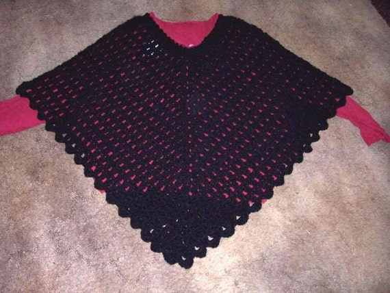 Free Crochet Patterns Plus Size Ponchos : Lady Jane Plus Size Poncho CROCHET PATTERN by TiggztooPatterns