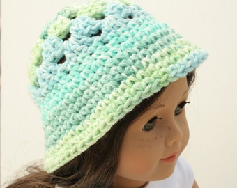 Hat and Bag for American Girl Doll Crochet PDF pattern No 32 Permission to sell Finished Items
