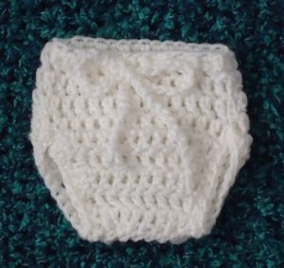 Crochet PDF Pattern No 24, Diaper Cover To Fit Newborn Baby Permission to sell Finished Items