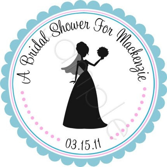 Personalized Beautiful Bride In Silhouette Stickers Wedding