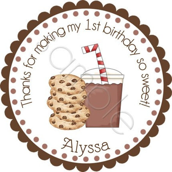 Personalized It's A Milk and Cookies Party Stickers - Party Favor Labels, Address Labels, Birthday Stickers, Baby Shower- Choice of Size