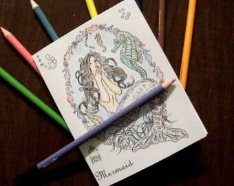 Mermaid Colorbook,  Zine