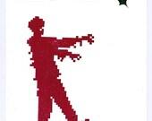 Very Merry Christmas Zombie eco-friendly card