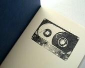 Cassette Tape notebook pocket moleskine, mix tape music journal