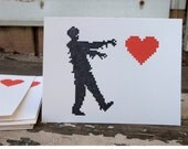 wedding Zombie love cards, 12 card set, stationary zombies anniversary