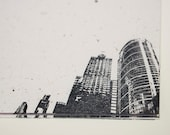 City Dreams stationary set w/envelopes letter writing stationery skyscrapers architecture