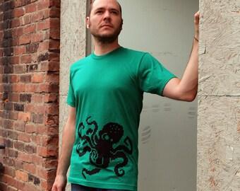 8Bit Men's Octopus shirt, Large t-shirt pixel video game