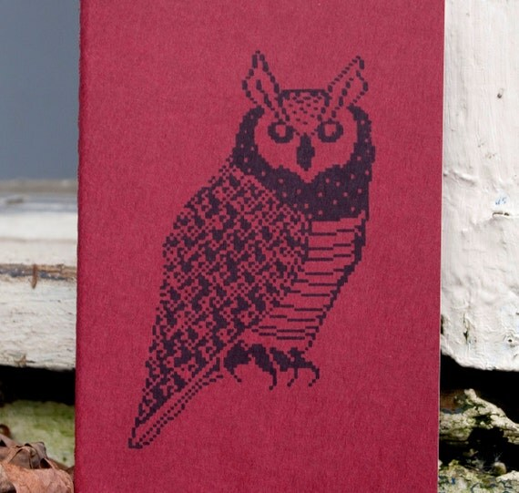 Horned Owl journal pocket moleskine, student teacher graduation gift