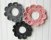 Decorative Crochet Wreaths Wall Hangings & Picture Frames Paris Pink Grey