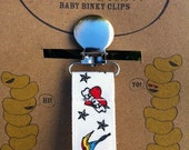 Tattoo Themed Binky/Pacifier Clip or Toy Leash