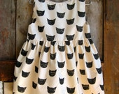 RESERVED - Black Cat Dress for Connie
