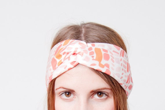 Blocks Print Twisted Headband