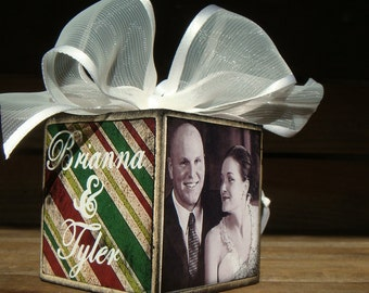 Personalized Photo Ornament- Couples Wedding