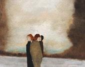 "Giclee art print. women figurative art. wall art. One More Time Around"""