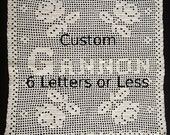 Filet Crochet Custom: 4 Roses Made to Order