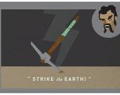 Strike the Earth - A3 print (11x16.5 inches)