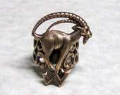 Mountain Long Horn Goat Ring