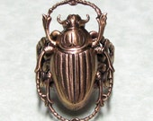 Golden Scarab Beetle Ring ' small '