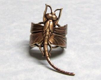 Dragonfly Steampunk Ring