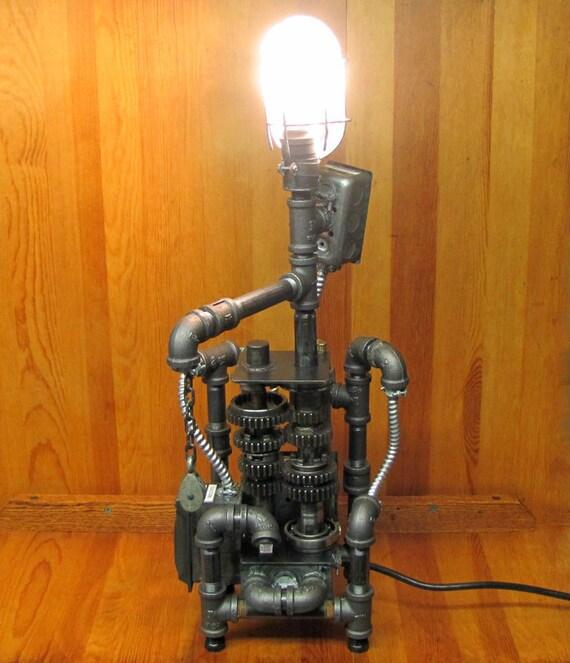 Steampunk Power Plant Table Lamp OOAK