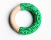 Irish green teething ring / First Toy