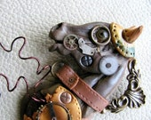Steampunk Horse, Time Trotter Collection in Polymer Clay