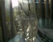 Aspiring Ice Sculpture Rock Crystal Quartz Earrings