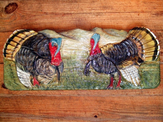 Wild Turkey 36 Colorful Chainsaw Carving Amp Painting By