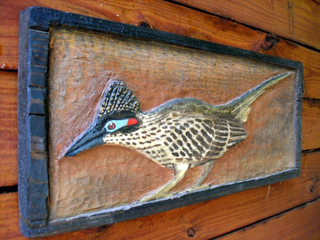 Road runner chainsaw wood desert carving detailed