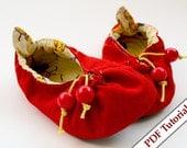 DIY - Kindergarten Soft Shoes Pattern - Cherry
