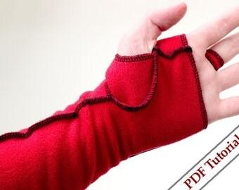 Flees mittens / SEWING pdf. pattern