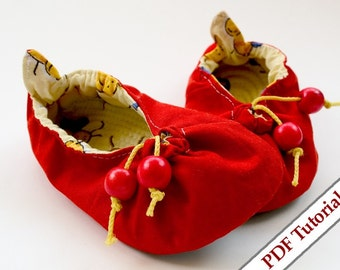 DIY - Kindergarten Soft Shoes Pattern - Cherry