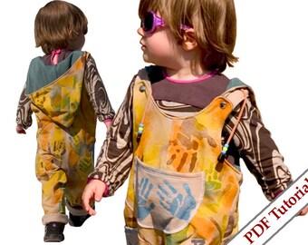 DIY Hoody Skirt Pants pattern for Toddler