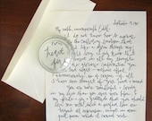 Items similar to handwritten Valentine love letter for your