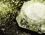 Dramatic Mirage Faery Dust Powder - Golden Sunlight - fairy dust for fairies body powder eye shadow pigment mica crafts - 3 gram jar