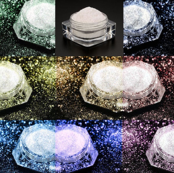 Dramatic Mirage Faery Dust Powder - fairy dust for fairies body powder crafts - Full Set - All 8 For You - mica - Like Getting TWO Free