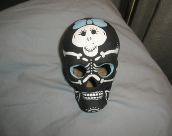 Female Skeleton Day of the Dead Skull