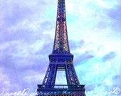 Eiffel Tower at Twilight, Paris - 11x14 matted print