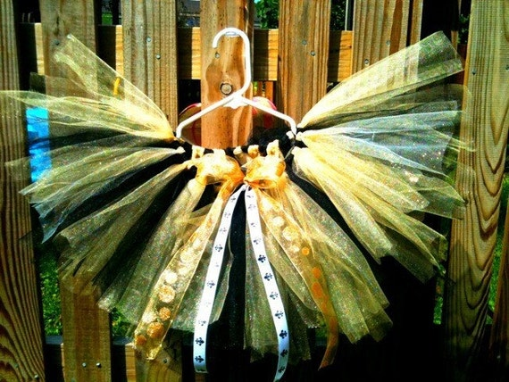 New Orleans Saints Tutu Black and Gold Who Dat
