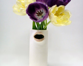 "RESERVE LISTING FOR Javahippy- ""Seconds"" 50% off mouth vase"