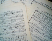 40 Hymn Book Pages - vintage, mellowed - ready for your scrapbooking or crafts